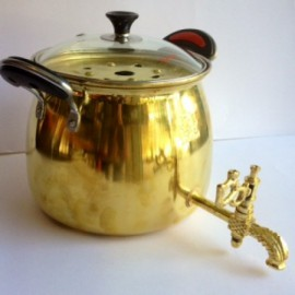 کتری برنجی ۳/۵ لیتری - در پیرکس..